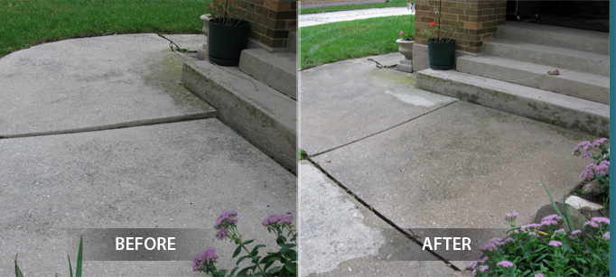 before after concrete